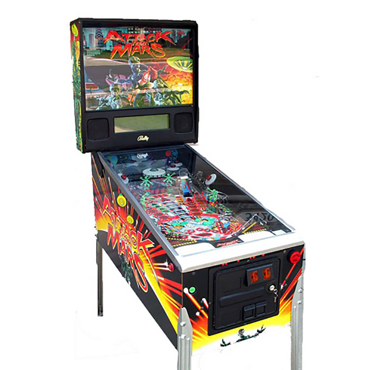 Buy Attack From Mars Pinball Machine by Bally Online at $9999.00