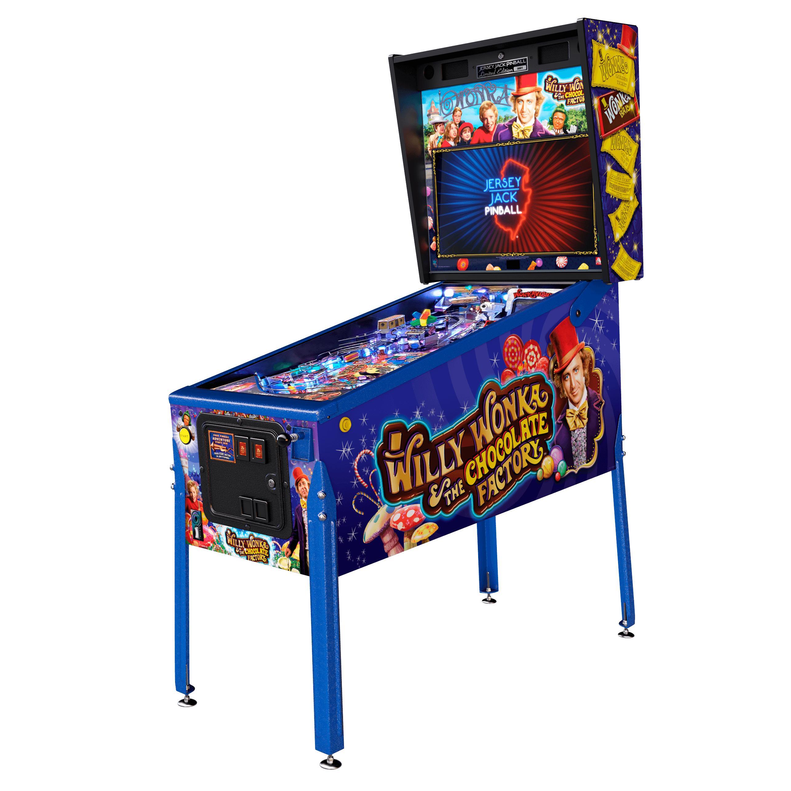 Buy Willy Wonka™ Limited Edition Pinball Machine Online at ...