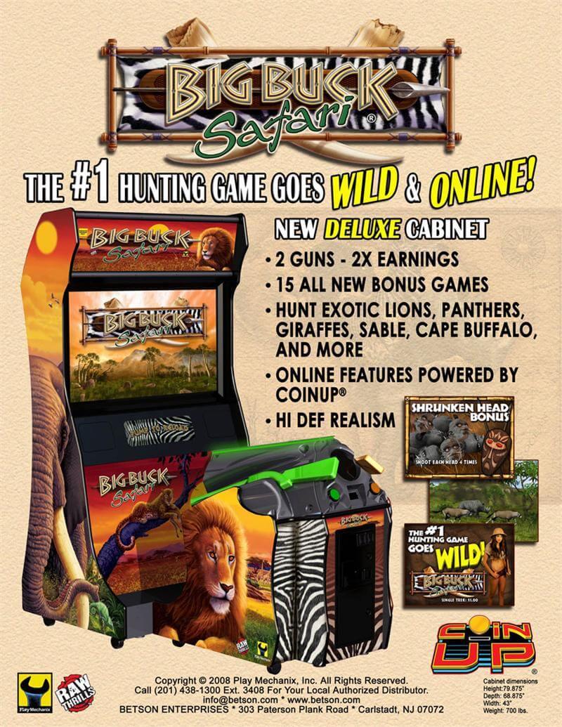 Buy Big Buck Hunter Safari Arcade Game Online at $3999