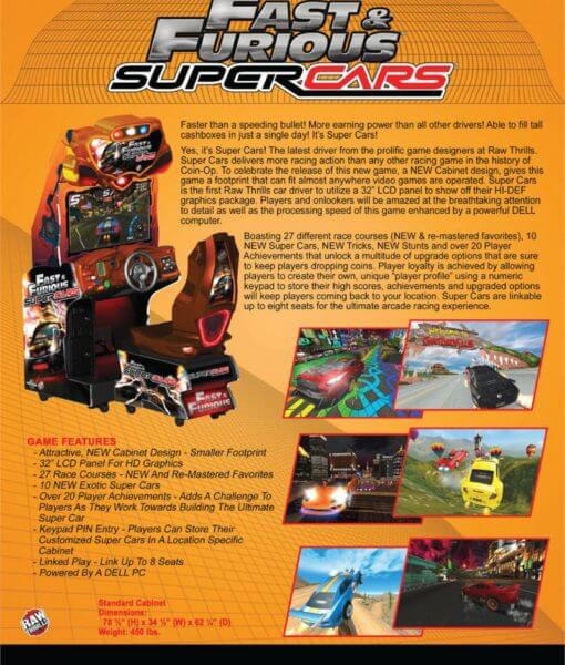 Buy Fast Amp Furious Supercars Arcade Game Online At 7999