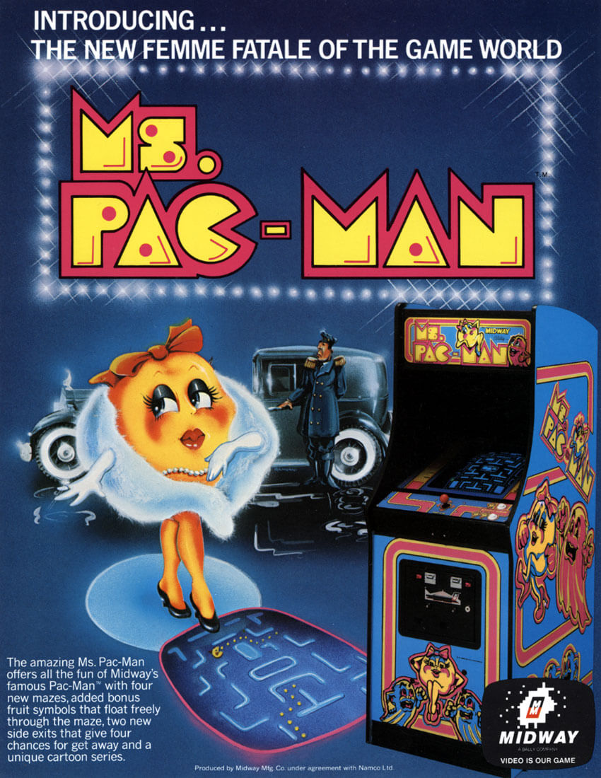 Ms Pacman Cabinet Buy Ms Pac Man Arcade Game Restored Online At 2999