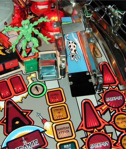 Bally Attack From Mars Pinball Machine Left Side Martian Plastic New!