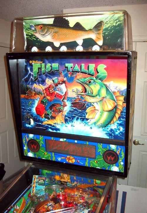 williams fish tales pinball machine