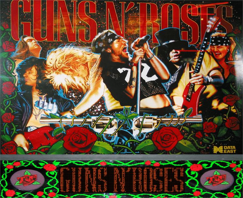 guns n roses pinball machine