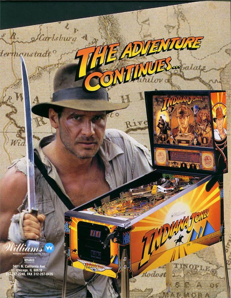Buy Indiana Jones Pinball Machine 1993 By Williams