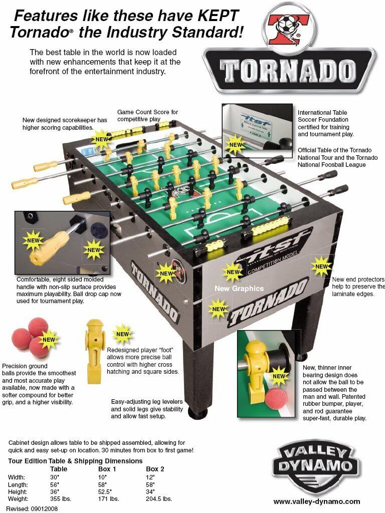 The product is already in the wishlist! Browse Wishlist  sc 1 st  The Pinball Company & Buy Tornado T-3000 Tournament Foosball Table Online at $2199